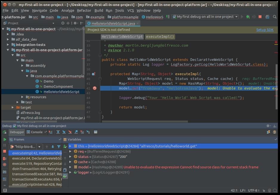 intellij idea debugging screenshot