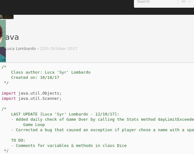 First java - Codepad