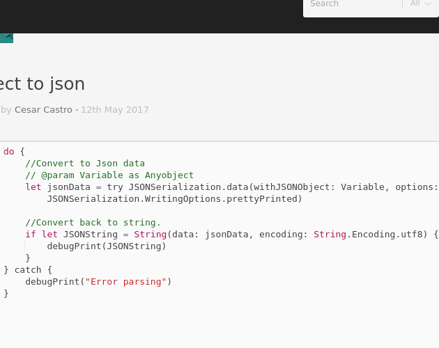 Object To Json Codepad