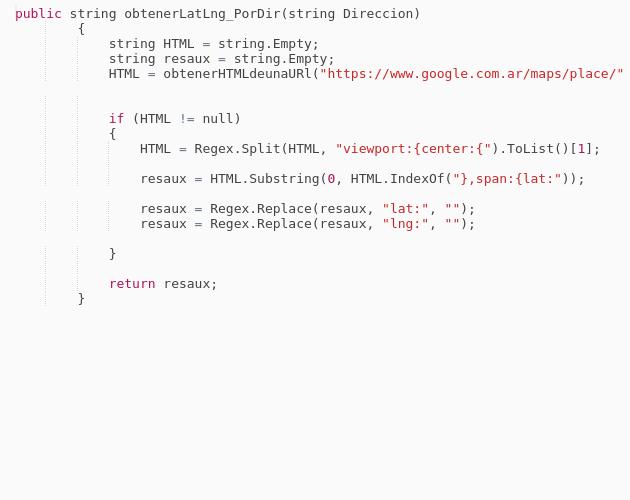 obtiene latitud y longitud en c# - Codepad