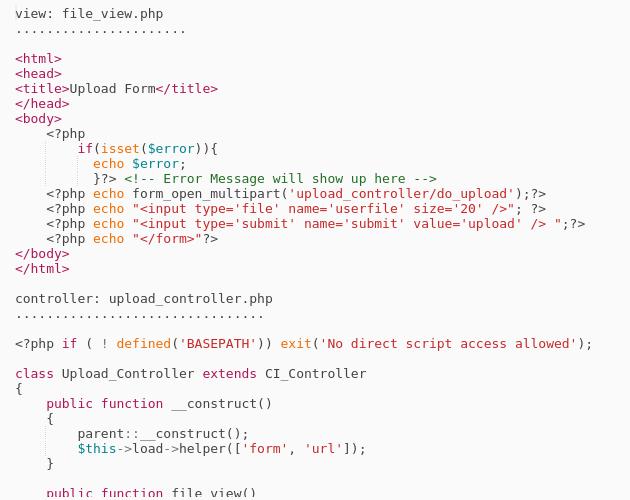 CodeIgniter3 : Image and File Upload - Codepad