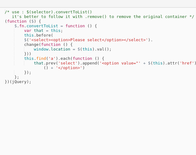 jQuery plugin to get all links within a container and to