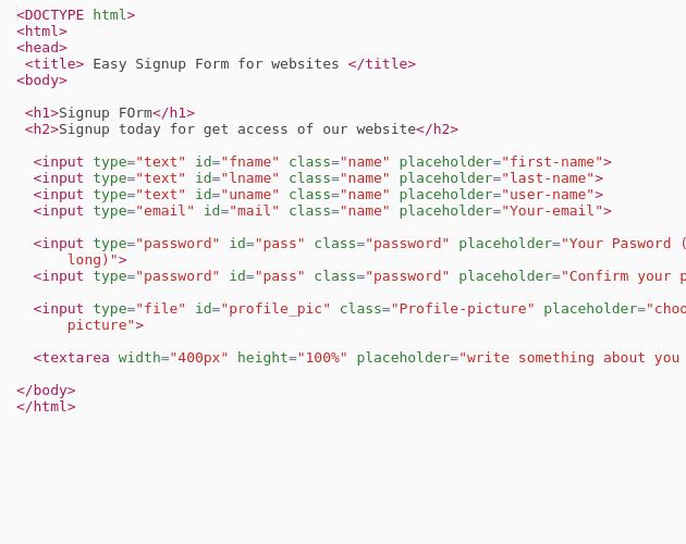 Signup Form  - Codepad