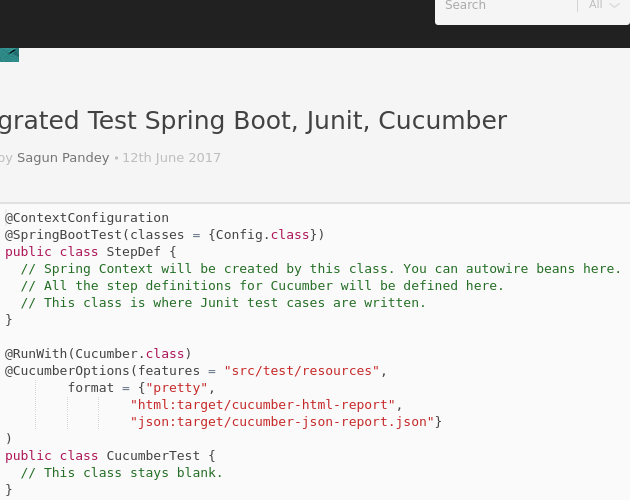 Integrated Test Spring Boot, Junit, Cucumber - Codepad