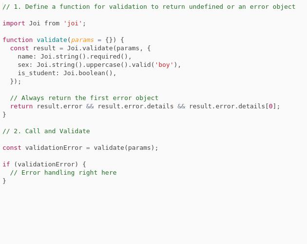 Simple Object Schema Validation - Codepad