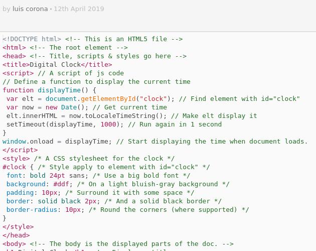 ClockJS html - Codepad