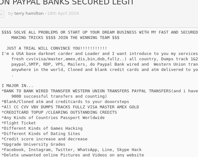 Doing BLANK/CLOND ATM/CREDIT CARDS HIGH BALANCE TRANSFER