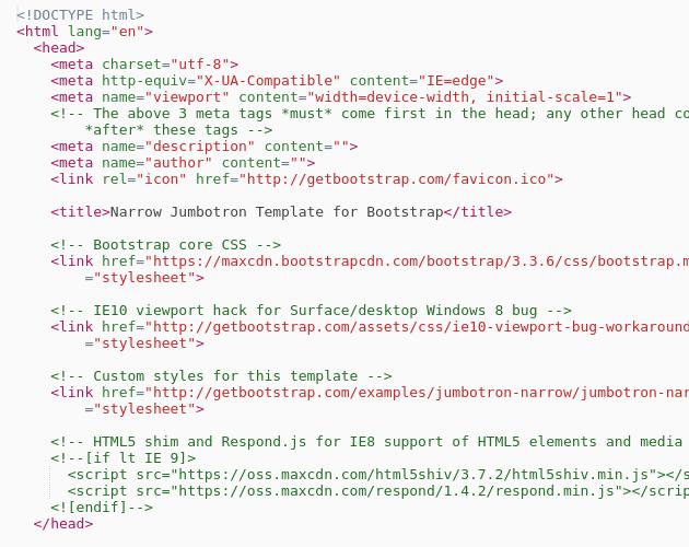Narrow Jumbotron Template | Bootstrap - Codepad