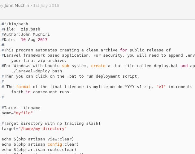 laravel-deploy bash - Codepad