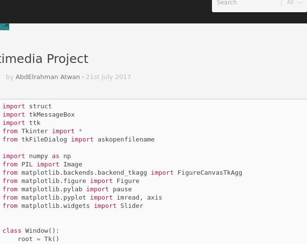 Multimedia Project - Codepad