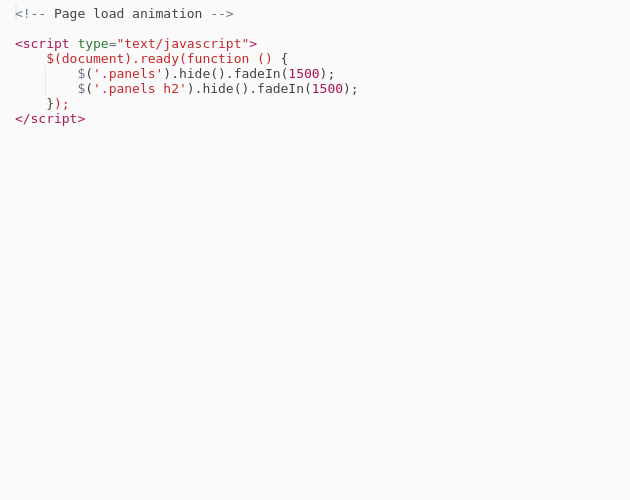 JS: Page load fade in - Codepad