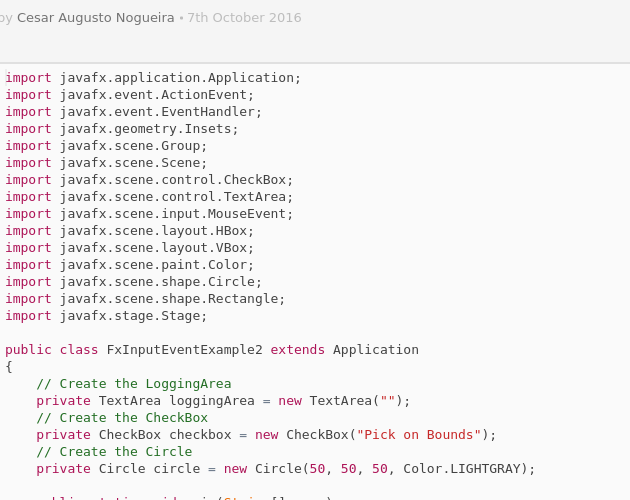 Picking Mouse Events on Bounds in JavaFX - Codepad