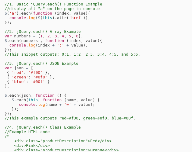 Jquery how to work with arrays - Codepad
