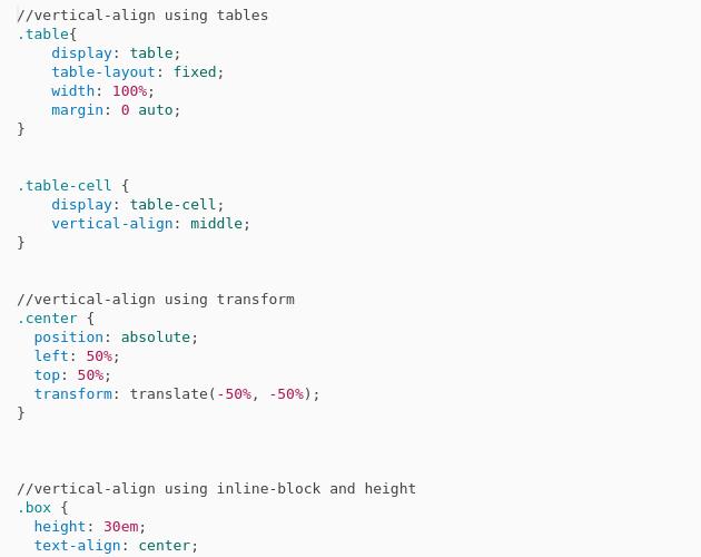 Vertical Align Codepad
