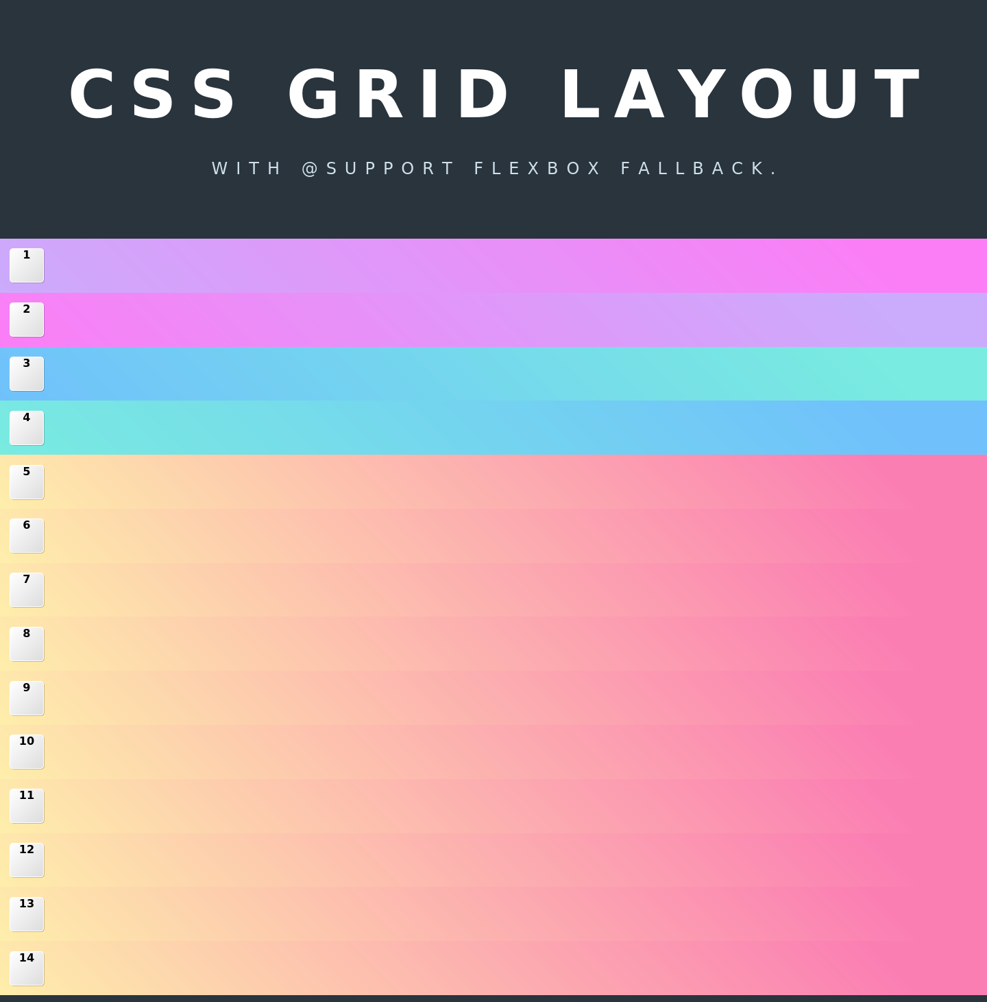 Css grid layout with support flexbox fallback codepad for Html css grid