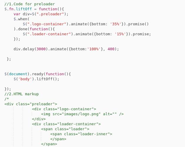 Simple preloader - Codepad