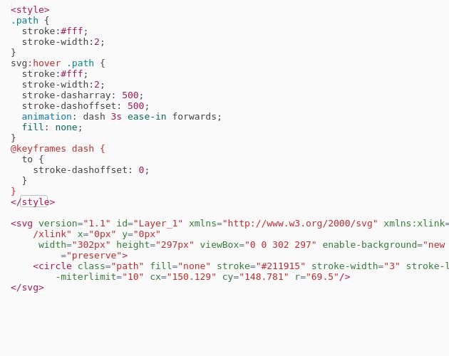 Animated SVG Line - Codepad