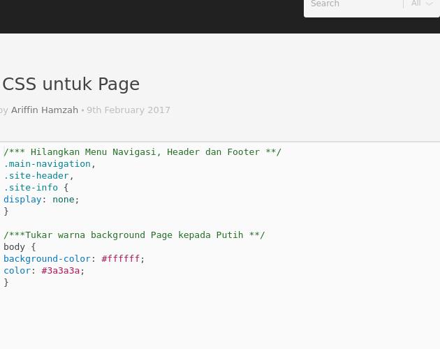 Kod Css Untuk Page Codepad