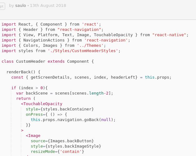 Custom Header - Codepad