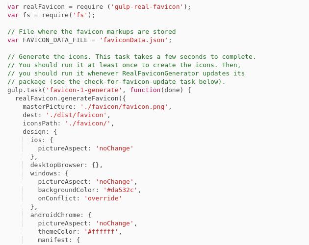favicon generator manifest.json