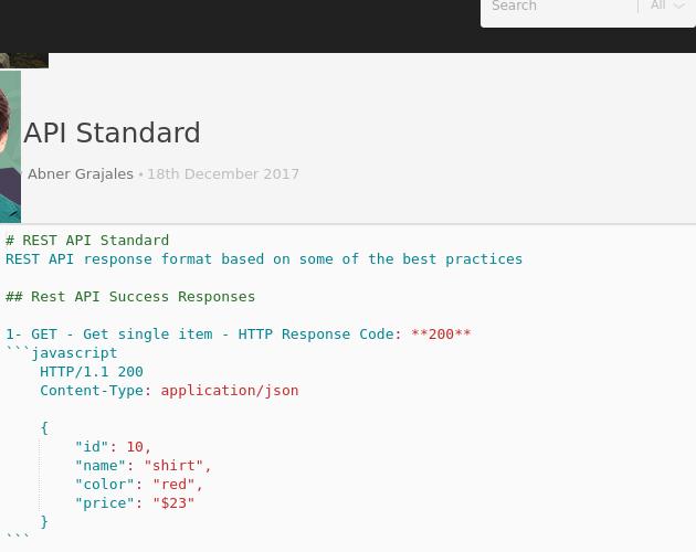 REST API Standard - Codepad