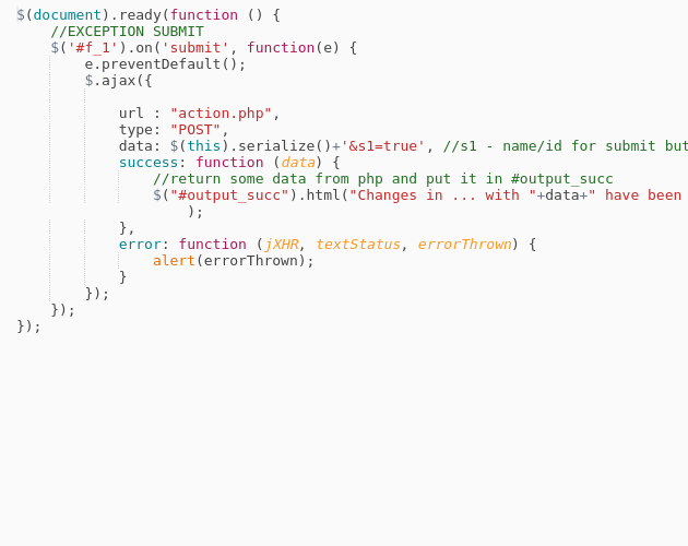 Ajax Js to PHP without reload page - Codepad