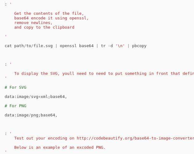 Bash - Convert SVG file into Base64 & copy to clipboard - Codepad