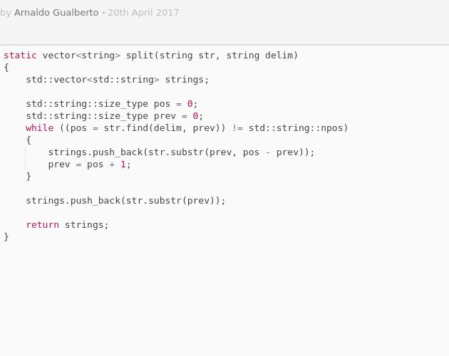 String Split Codepad