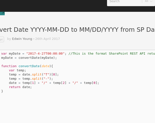 Javascript date from string in Sydney